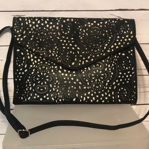 Handbags - Black & Cutout Crossbody or Clutch
